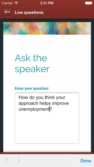 Ask questions to a speaker